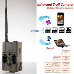 Wildkamera GPRS/MMS/SMS 12MP 940NM HC300M JagdKamera IR LED Wildtier Kamera M4I8