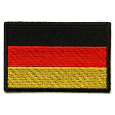 Embroidered Germany German Flag Iron on Sew on Biker Patch Badge