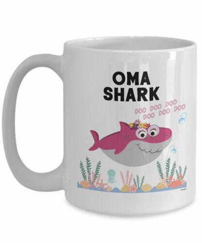 Oma Shark Mug For Oma Gifts For Oma Coffee Mug Mothers Day Gifts Best Grandma