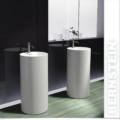 Freistehendes Waschbecken aus Mineralguss PB2021 weiß - 45 x 90 cm - Solid Stone