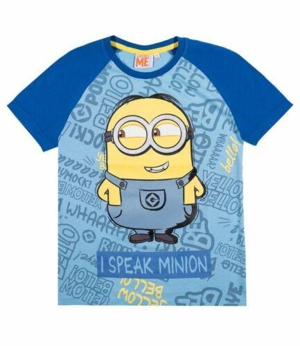 116-152 Shirt Jungen Jungs Pulli Minions schwarz blau rot Minions T-Shirt Gr