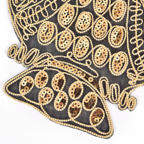 Owl Sequined Embroidered Patch Iron On Appliques Animals Bird Fabric Stickers GS