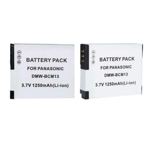 2x Batería DMW-BCM13E 13PP Para Panasonic DMC-ZS30GK TZ40 TZ61 ZS30 ZS35 Cámara