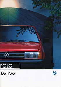 VW-Polo-Prospekt-1992-1-92-40-S-brochure-prospectus-Autoprospekt-broschyr-Auto