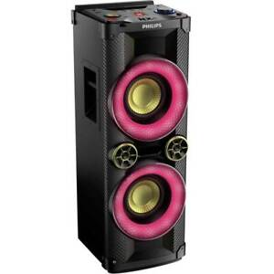 Cassa-Altoparlante-Speaker-a-Torre-Bluetooth-1000W-Luci-LED-Mp3-USB-CD-Philips
