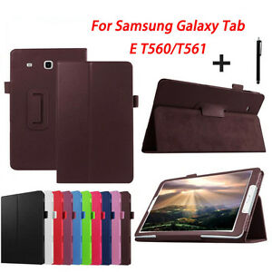 Leather-Screen-Protector-Cover-For-Samsung-Galaxy-Tab-E-T560-T561-9-6inch-Tablet