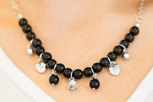 Black A HEART-Luck Story Paparazzi Necklace