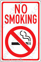 No Smoking On A 8x12 Aluminum Sign - Made In The Usa - Uv Protected