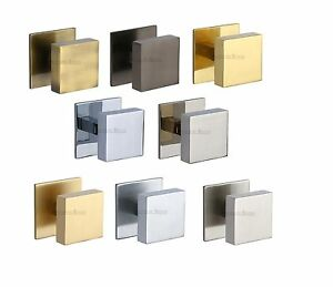 Heritage Brass - V908 - Centre Door Knob Square Design 3 - Solid Brass Material