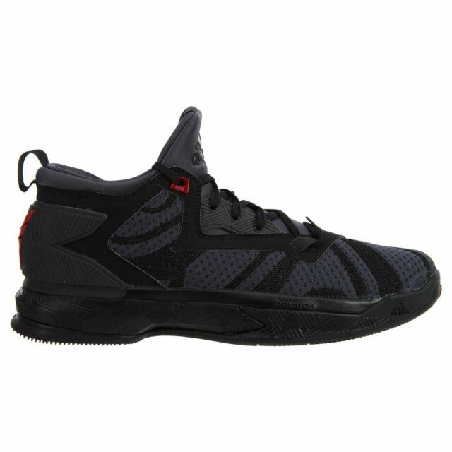 Buy adidas D Lillard 2 Shark Mens B42355 Black Vivid Red Basketball ... 85cb85b292