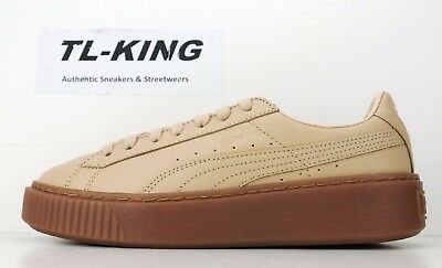 Puma Womens Naturel Platform Lux Veg Tan Thick Bottom Wedge 364457 01  120  JF fb49d4111