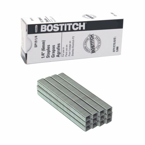 """10 Boxes of Stanley Bostitch P3 1//4/"""" Staples for P3 Stapler SP191//4 Authentic!"""