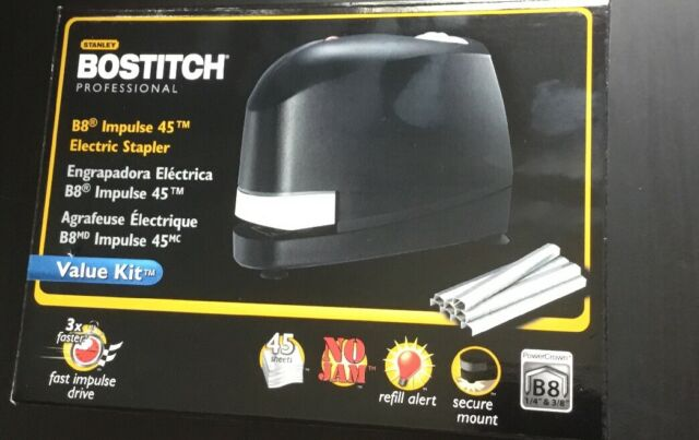 Bostitch B8 Impulse 45 Electric Stapler Sealed in Retail Box with 5,000 Staples