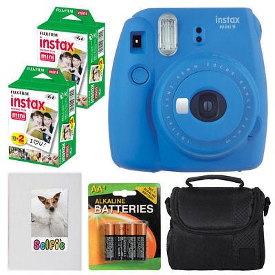 Fujifilm Instax Mini 9 Instant Camera (Cobalt Blue) + Instax 40 - Value Bundle!