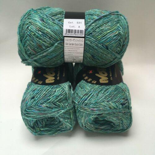 10/% Mohair 50g Nylon 40/% Lambs Wool Noro Silk Garden Sock Solo 25/% Silk