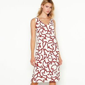 J By Jasper Conran Womens White  Tandi  Tulip Dress - Size  10  04889fd49