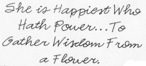 Unmounted Rubber Stamp Flower Quotes Flowers Sayings /& Quotes Gardening