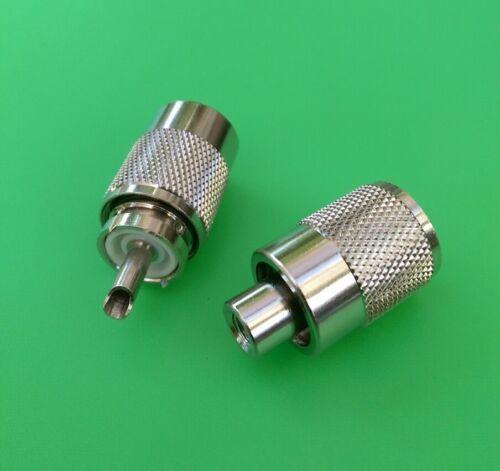 UHF PL-259 Male Twist-On Connector RG58 USA Seller 10 PCS