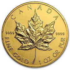 1991 Canada 1 oz Gold Maple Leaf BU - SKU #81575