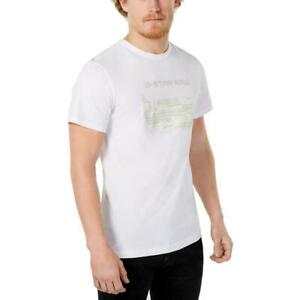 G-Raw-Mens-T-Shirt-White-Size-2XL-Graphic-Tee-Logo-Printed-Crewneck-35-201