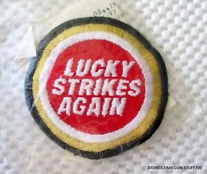 LUCKY-STRIKE-AGAIN-EMBROIDERED-SEW-ON-PATCH-ADVERTISING-TOBACCO-NIB-3-034