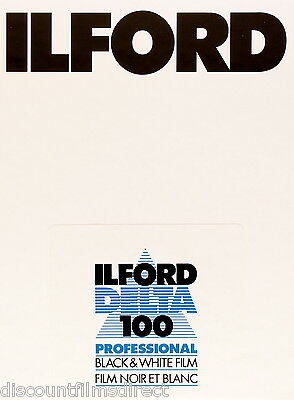 1 x 25 sheets ILFORD DELTA 100  5x4 Sheet Film (4x5in)  by 1st CLASS POST