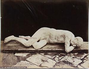 Italia-Morto-Trovato-IN-Pompei-Nel-1873-Vintage-Albumina-Ca-1875