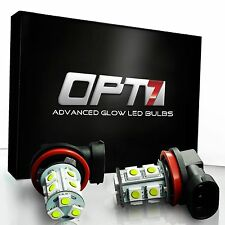 OPT7 LED Fog Light Bulbs H11 H8 H9 - 13-SMD 10000K Deep Blue - DRL Driving Lamp