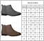 Womens Flat Chelsea Ankle Boots Ladies Casual Pull On Low Block Heel Shoes Size