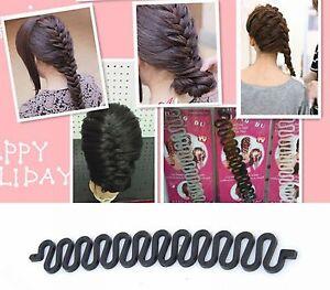 5-Black-Braids-Holder-Magic-Hair-Styling-Bun-Curler-Tool-Maker-Twist-Braider-DIY
