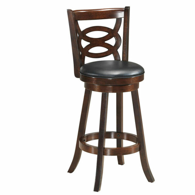 At Home Kitchen Chairs.Swivel Stool 29 Bar Height Upholstered Seat Dining Chair Home Kitchen Espresso
