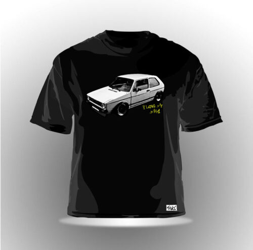 "EAKS® Herren T-Shirt /""GOLF 1/"" schwarz i love my MK1 GTI-Driver Shirt Car Auto"