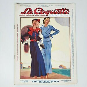 Vintage 1930s Art Deco French Fashion Pattern Magazine La Coquette 1934 no 260
