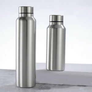 Stainless Steel Water Bottle Leak Proof Large Capacity Sports Bottle Metal Bland