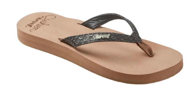77e24537b9a9 REEF WOMENS FLIP FLOPS.STAR CUSHION GLITTER CROCODILE FAUX LEATHER THONGS  8S 84