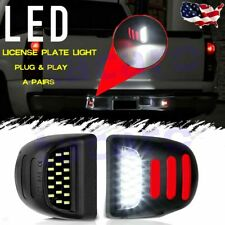 2x Led License Plate Light Red Drl Tube For Chevy Silverado Gmc Sierra 1500 2500 Fits 2004 Avalanche 1500