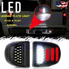 2x Led License Plate Light Red Drl Tube For Chevy Silverado Gmc Sierra 1500 2500