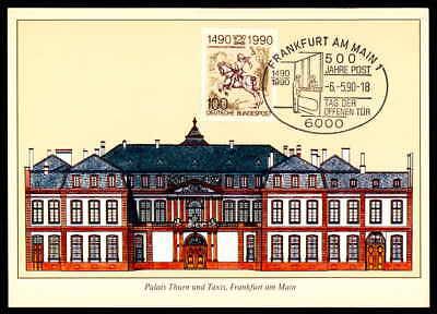 Brd Mk 1990 500 Jahre Post DÜrer Postreiter Maximumkarte Maxi Card Mc Cm M759 Farben Sind AuffäLlig Briefmarken