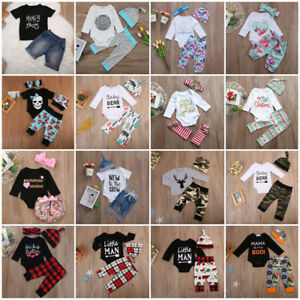 Newborn-Kid-Baby-Boys-Girls-Romper-Bodysuit-Jumpsuit-Sunsuit-Clothes-Outfits-Set