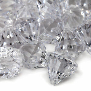 Details about 12lb Clear Acrylic Diamond Shaped Gems Wedding Table Scatter  Venue Decorations
