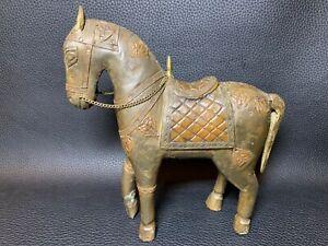 1950s Old Indian Original Vintage Hand Carved Brass Copper