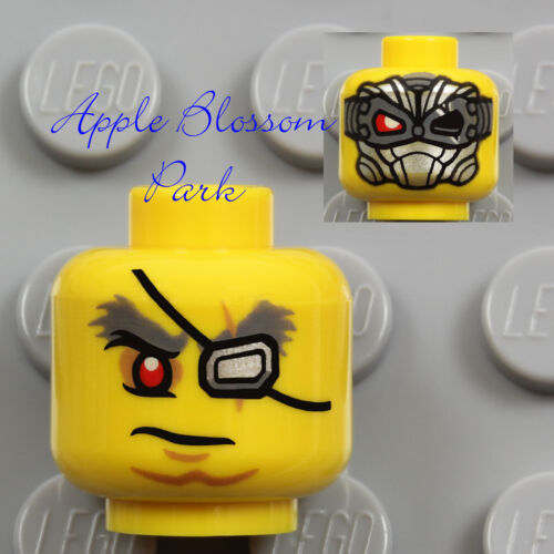 Ultra Agents Psyclone w//Silver Mask Eye Patch NEW Lego Male Pirate MINIFIG HEAD