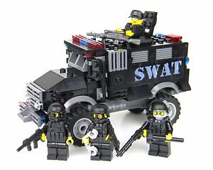 Deluxe swat truck police vehicle made with real lego for Brick city motors reviews