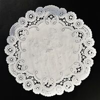 100 - 6 White French Lace Paper Doilies || White Paper Lace Doily