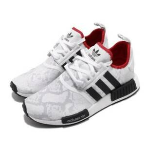 Details about ✅ New Adidas Boost NMD R1 Shoes White Black Red Scarlet Size 12 FV3874
