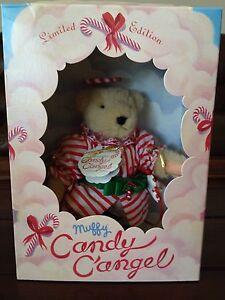 """Muffy Vanderbear 1997 Limited Xmas Edition Muffy Candy C""""Angel w Original Box"""