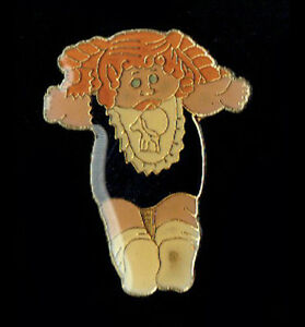 Details about Vintage Enamel Pin 70's 80s Retro Novelty Cabbage Patch Doll