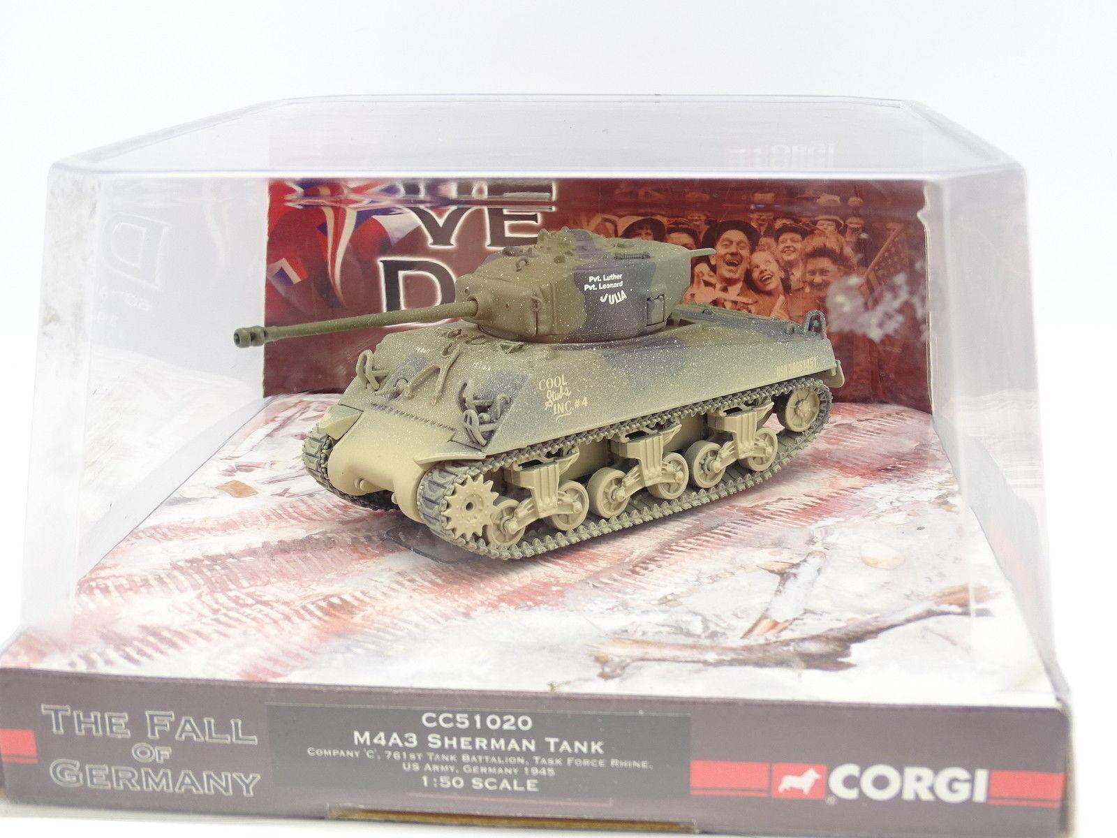 Corgi Militaire Armée 1 43 - Char Tank Sherman M4A3 Task Force Rhine US Army 45