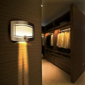 Details About Sentik 10 Led Motion Activated Wireless Wall Sconce Light Hallway Staircase