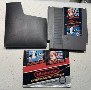 Super-Mario-Bros-Duck-Hunt-Nintendo-Entertainment-System-1985-NES-w-Manual
